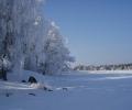 Talvi meren rannalla